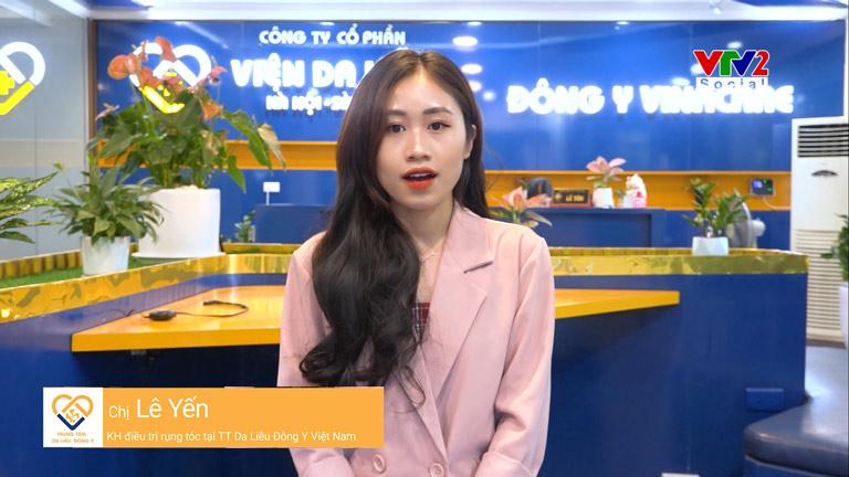 Khách hàng Lê Yến chia sẻ về quá trình điều trị rụng tóc tại Trung tâm Da liễu Đông y Việt Nam
