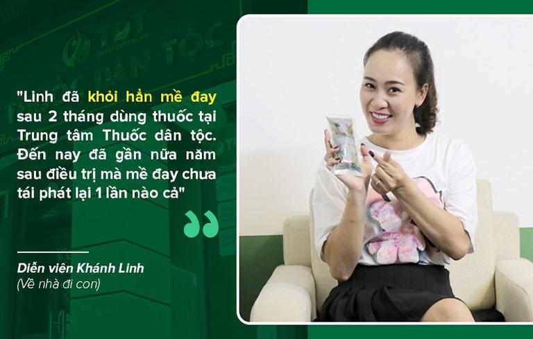 Sau 2 tháng điều trị diễn viên Khánh Linh đã hoàn toàn dứt điểm mề đay
