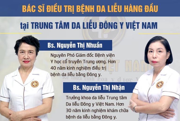 """2 trong số những vị bác sĩ """"nòng cốt"""" của Trung tâm Da liễu Đông y Việt Nam"""
