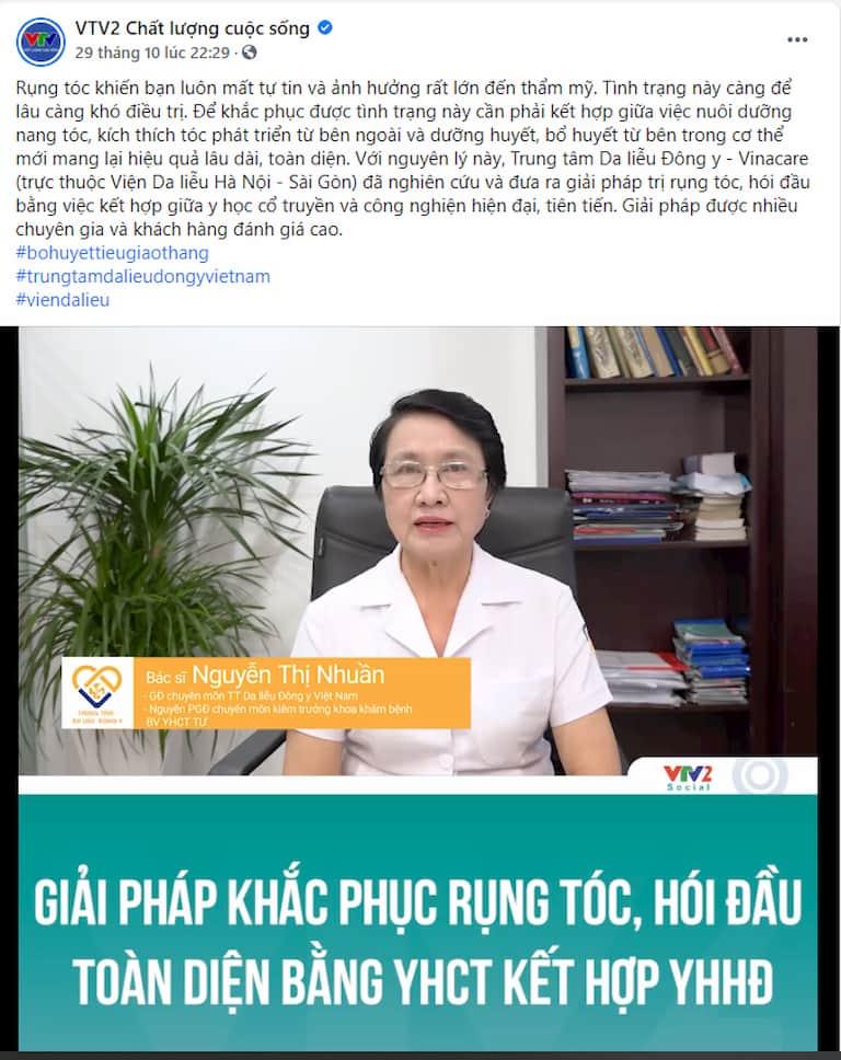 Chuyên gia chia sẻ giải pháp điều trị rụng tóc tại Trung tâm Da liễu Đông y Việt Nam