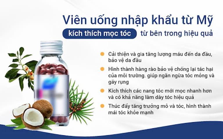 Viên uống thảo dược được nhập khẩu từ Mỹ hỗ trợ ngăn ngừa rụng tóc, kích thích tóc mọc nhanh, khỏe