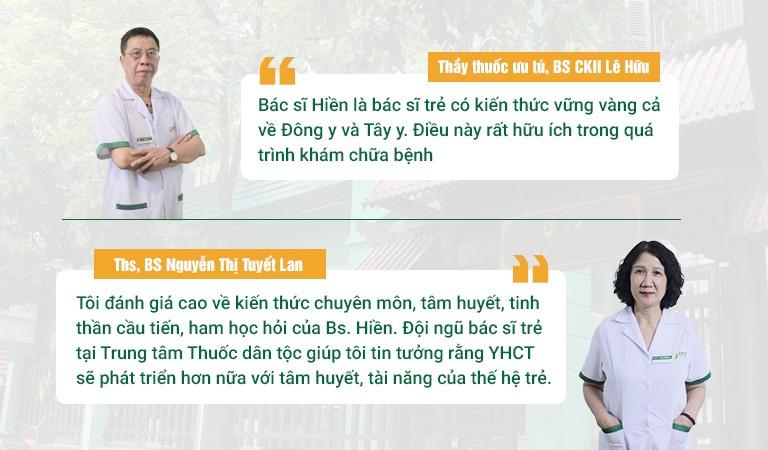 Bác sĩ Hiền được đánh giá cao từ các chuyên gia đầu ngành