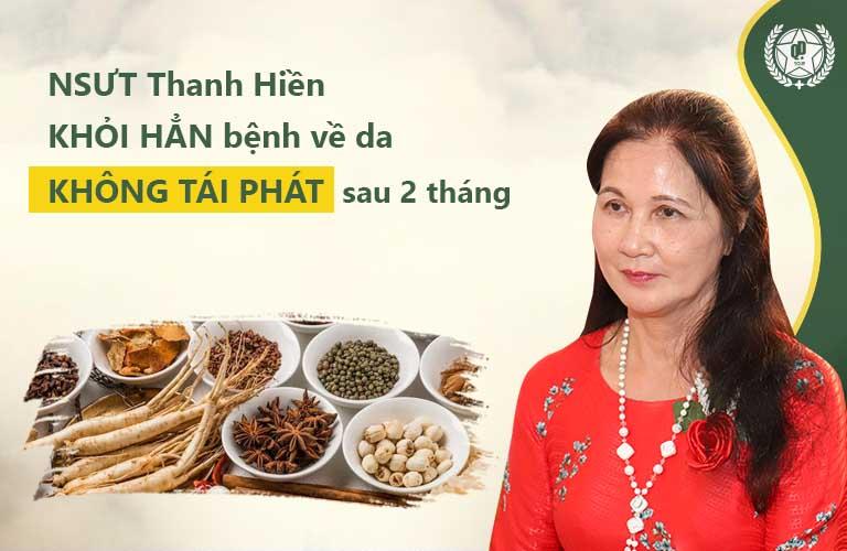 Nghệ sĩ Thanh Hiền được bác sĩ Lê Phương chữa khỏi viêm da