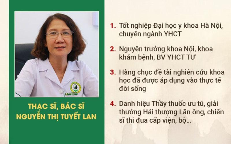 Bác sĩ Nguyễn Thị Tuyết Lan - Chuyên gia đầu ngành Y học cổ truyền